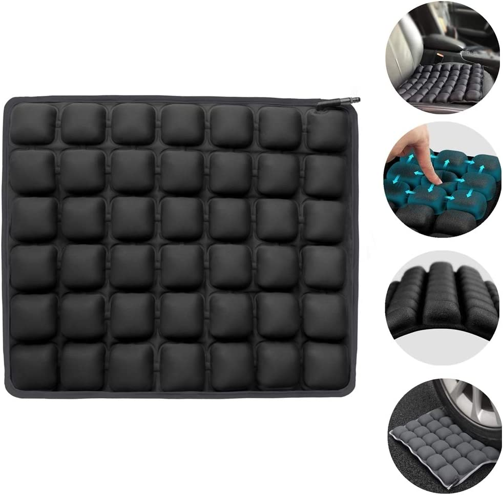 Coccyx Pain Orthopedic Seating for Car Wheelchair Office Chair Vive Pressure Relief Seat Cushion Travel Portable and Inflatable Soft or Firm Sciatica Back Support Air Pad for Tailbone