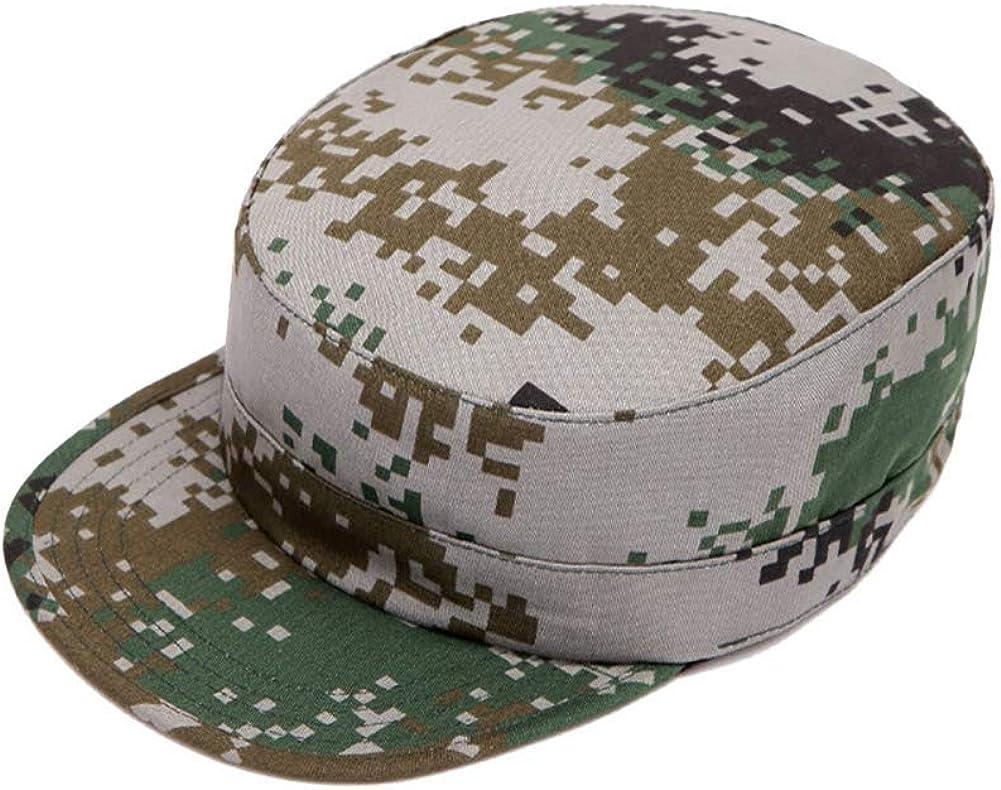 Aesy Gorras de Hombre Plana, Gorras de Béisbol, Ajustable Algodón Sombrero Cabeza Gorras de Militar Plana (A1): Amazon.es: Ropa y accesorios