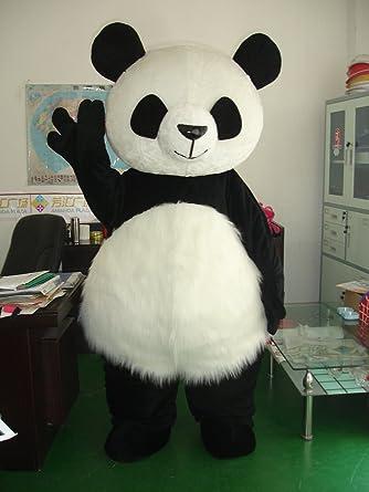 Pelo largo oso panda mascota disfraz traje de disfraz infantil de ...