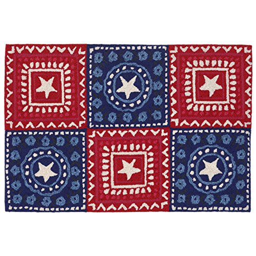 Liora Manne by TransOcean Frontporch Badana Americana Outdoor Rug 20in. x 30 in. (Bandana Rug)