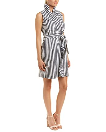 33a4749826 Image Unavailable. Image not available for. Color  MILLY Womens Ruffle Wrap  Dress ...