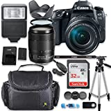 Canon EOS 77D DSLR Camera with Canon 18-135mm Lens + Deluxe Accessory Bundle including Gadget Case, 32GB Memory, Tripod & More