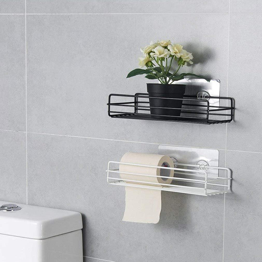 Wrought Iron Bathroom Shelf Wash Rack Free Punching Wall Hanging Kitchen Spice Storage Rack Hanging Basket
