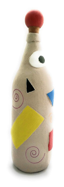 Botellas con suerte - Decoración Botella Reciclada Cruzcampo Arena de playa y decoupage de 28cm