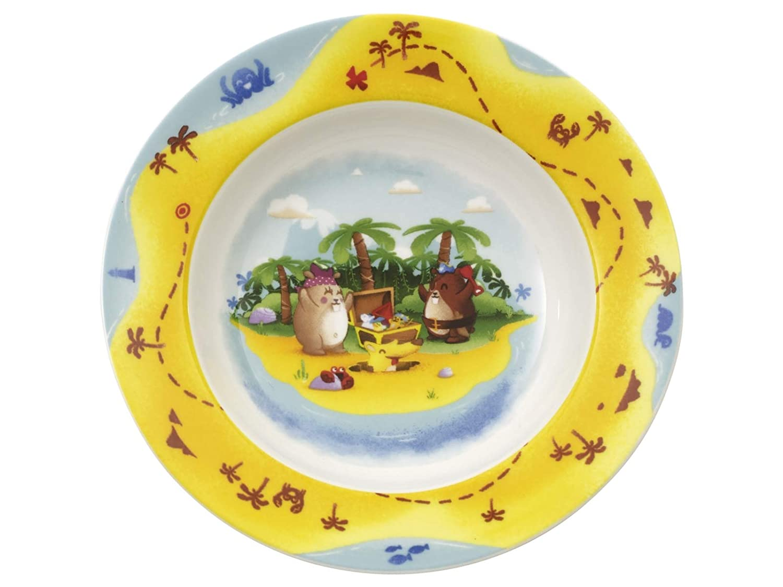 Villeroy & Boch Chewy'S Treasure Hunt Piatto per Bambini, 19.5 cm, Porcellana Premium, Bianco/Multicolore