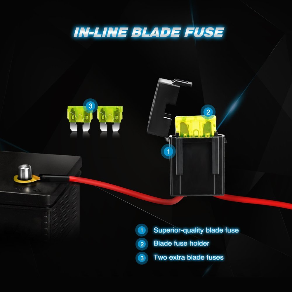 2 Years Warranty Nilight ZH006 Bar 20Inch 126W Spot Flood Combo Led Off Road Lights with 16AWG Wiring Harness Kit-2 Lead