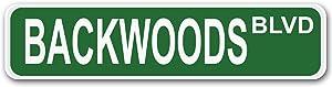 "Adept Mechanism Backwoods BLVD Aluminum 4"" x 17"" Street Sign"