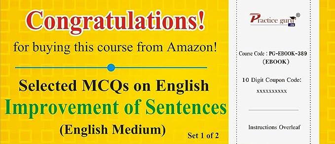 Practice Guru Selected MCQs on English - Improvement of Sentences