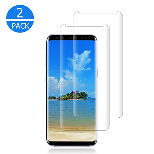 [2-Pack] Galaxy S9 Plus Screen Protector,Cafetec Tempered Glass Screen Protector with [9H Hardness][Easy Bubble-Free Installation][Anti-Scratch] Compatible with Samsung Galaxy S9 Plus Clear.