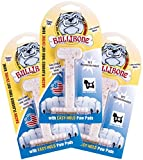 Bullibone Nylon Dog Chew Toy Small Nylon Bone – Improves Dental Hygiene, Easy to Grip Bottom, and Permeated with Flavor (3-Pack, Bacon) For Sale