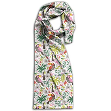 Simple Beautiful Exotic Birds Printing Design Scarf at Amazon