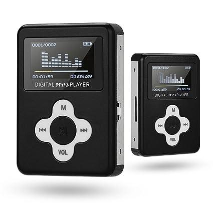 Amazon.com: Junshion - Reproductor MP3 MP3, USB mini MP3 ...