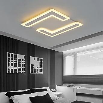 Hochwertig 40W LED Platz Deckenleuchten Modern Elegant Kreativ Doppelt L Form Entwurf  Mit Acryl Transparenter Schatten