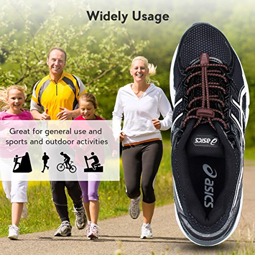 Reflective 3 for Running Pairs with Climbing No Brown Shoelaces Shoe Shoes Adults Running and Lock Hiking Lacing Elastic for Tie System Kids Quick Laces HrqHZ