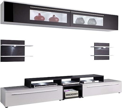 Dynamic24 Topas - Mueble para televisor o salón, Color Blanco y Negro: Amazon.es: Juguetes y juegos