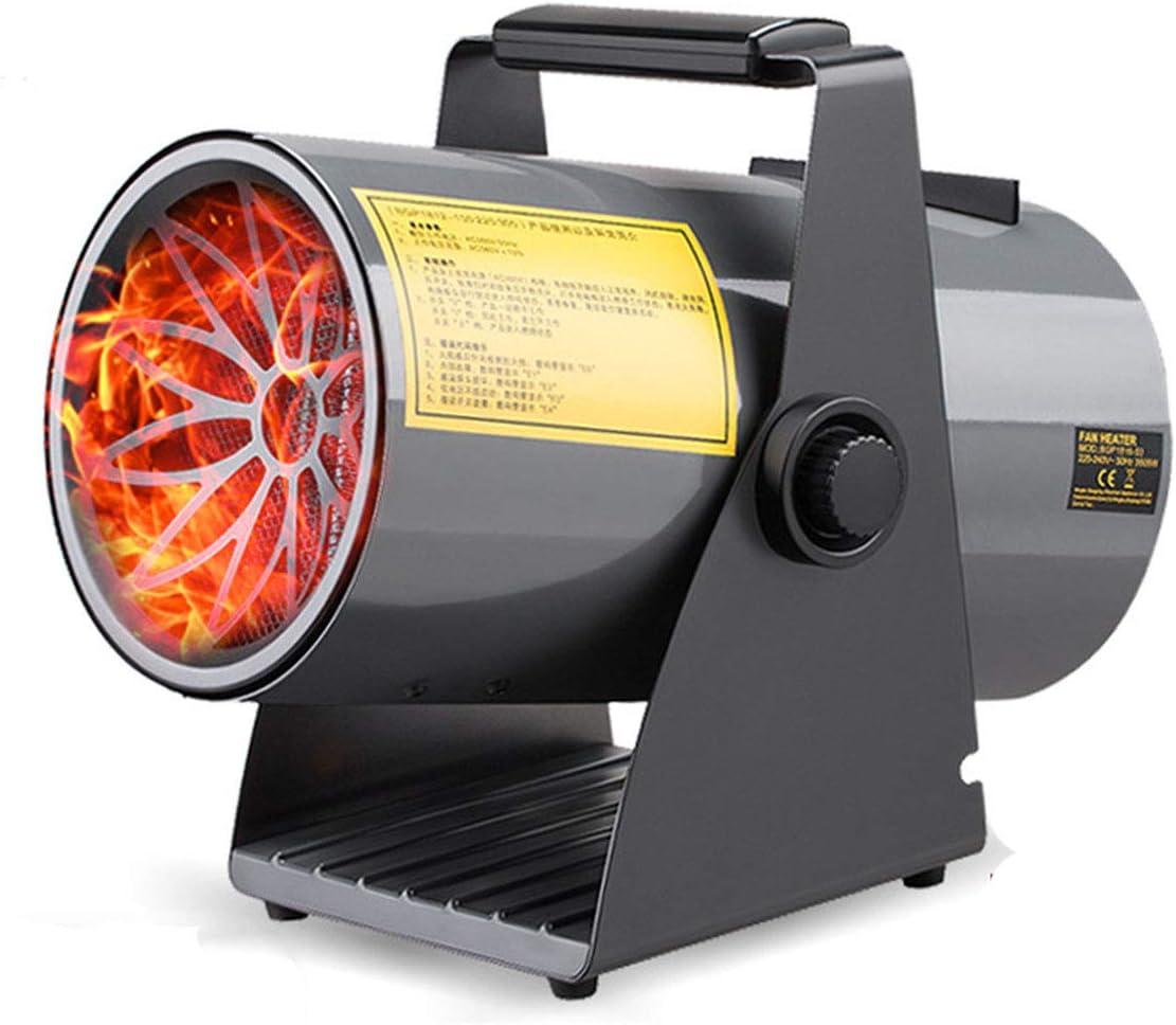 Calentador eléctrico Industrial del Ventilador de Temperatura Ajustable asistida Calefactores rápido Calentamiento portátil para Garaje Taller de Efecto Invernadero