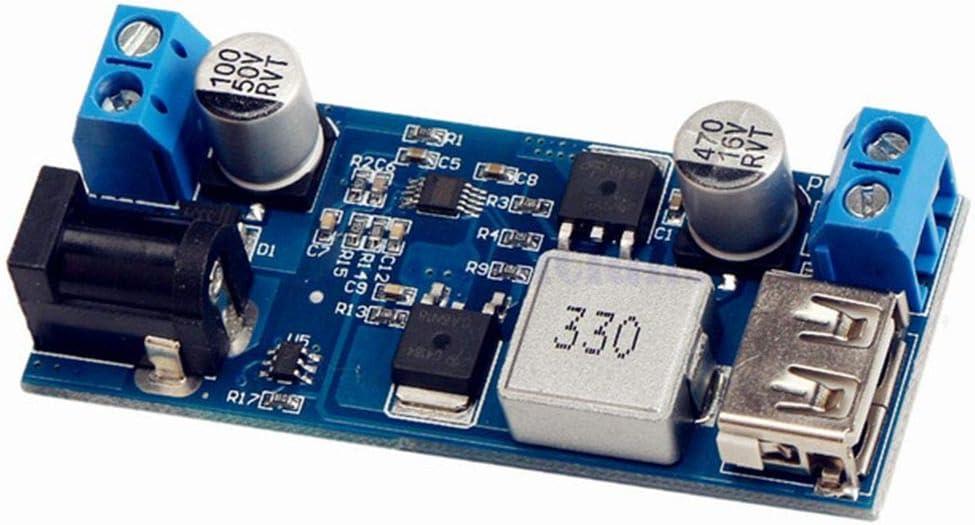 Uzinb Reemplazar LM2596S DC-DC 24V / 12V a 5V 5A Bajada Fuente de alimentación Buck convertidor del teléfono USB Ajustable de Paso bajo de Carga Junta