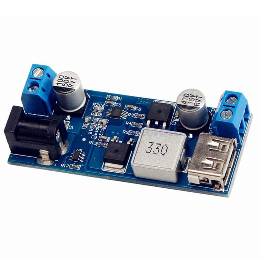 ELENXS Remplacer LM2596S DC DC 24V / 12V à 5V 5A QUITTERA d'alimentation Buck Converter Phone Step USB réglable vers Le Bas Conseil de Charge