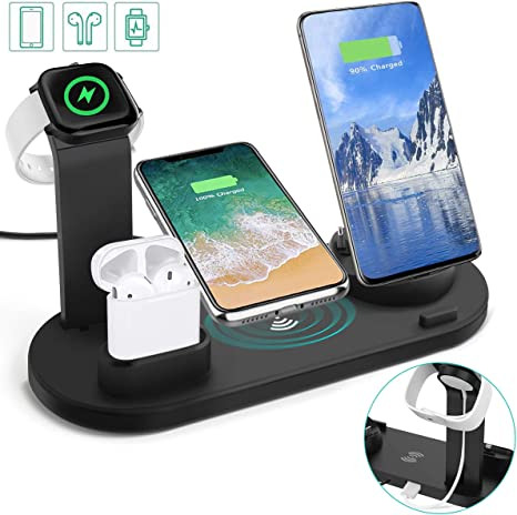 Auzev Wireless Charger kabelloses Ladestation 6 in 1: Amazon