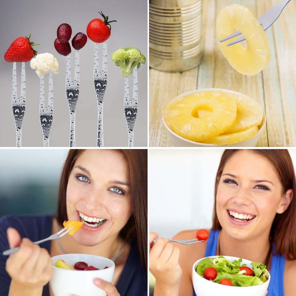OITUGG Affetta Ananas Taglia, Ananas Affettatrice, Utensili per Ananas 3 in 1 in Acciaio Inox,1 Affettatrice Staccabile e 8 Forchette di Frutta Come Articoli da Regalo (Black)