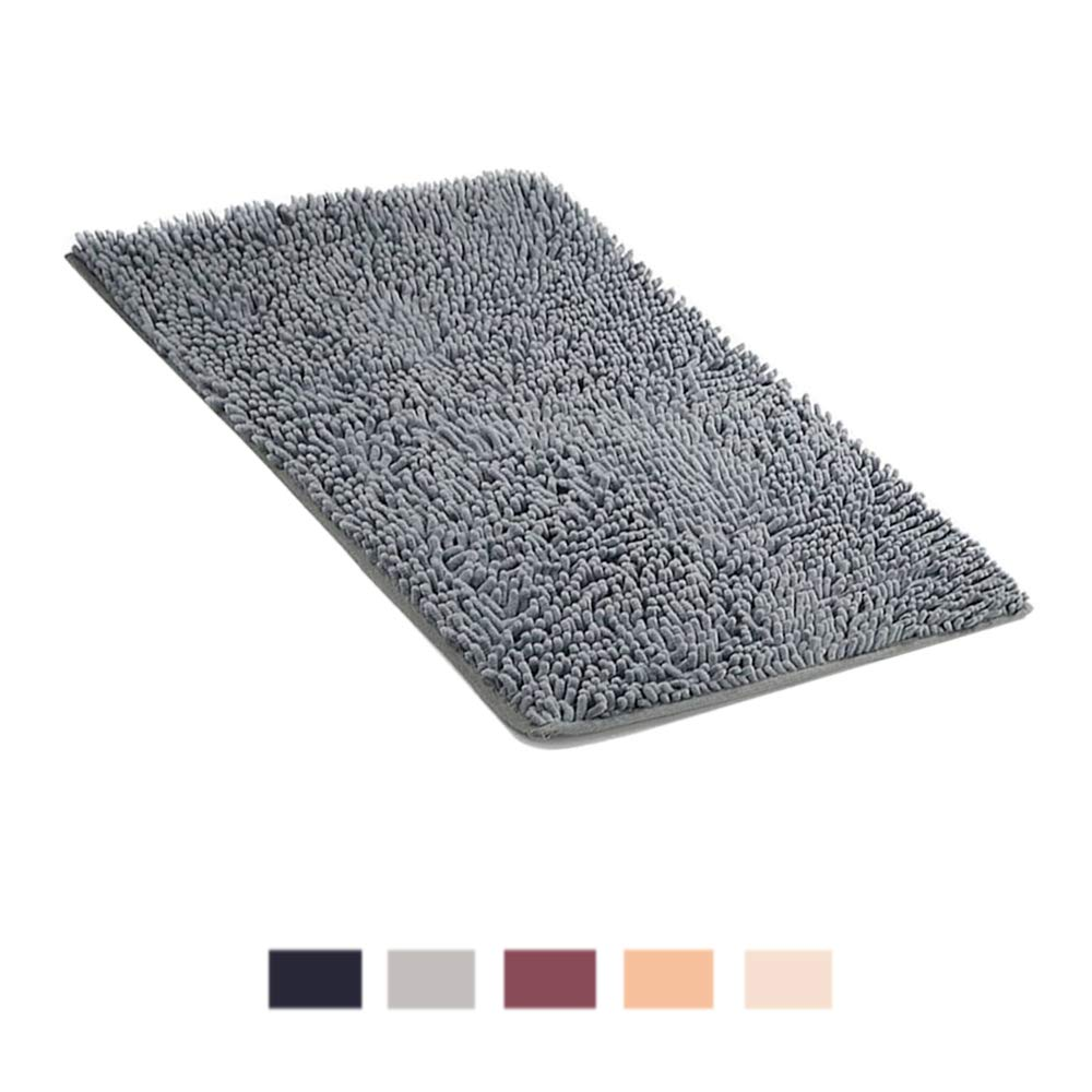 ALOPEX BEKVÄMT Bath Mat Non-slip Super Absorbent Soft Mat for Bathroom Living Room Kitchen Bedroom,40 * 60cm,Grey