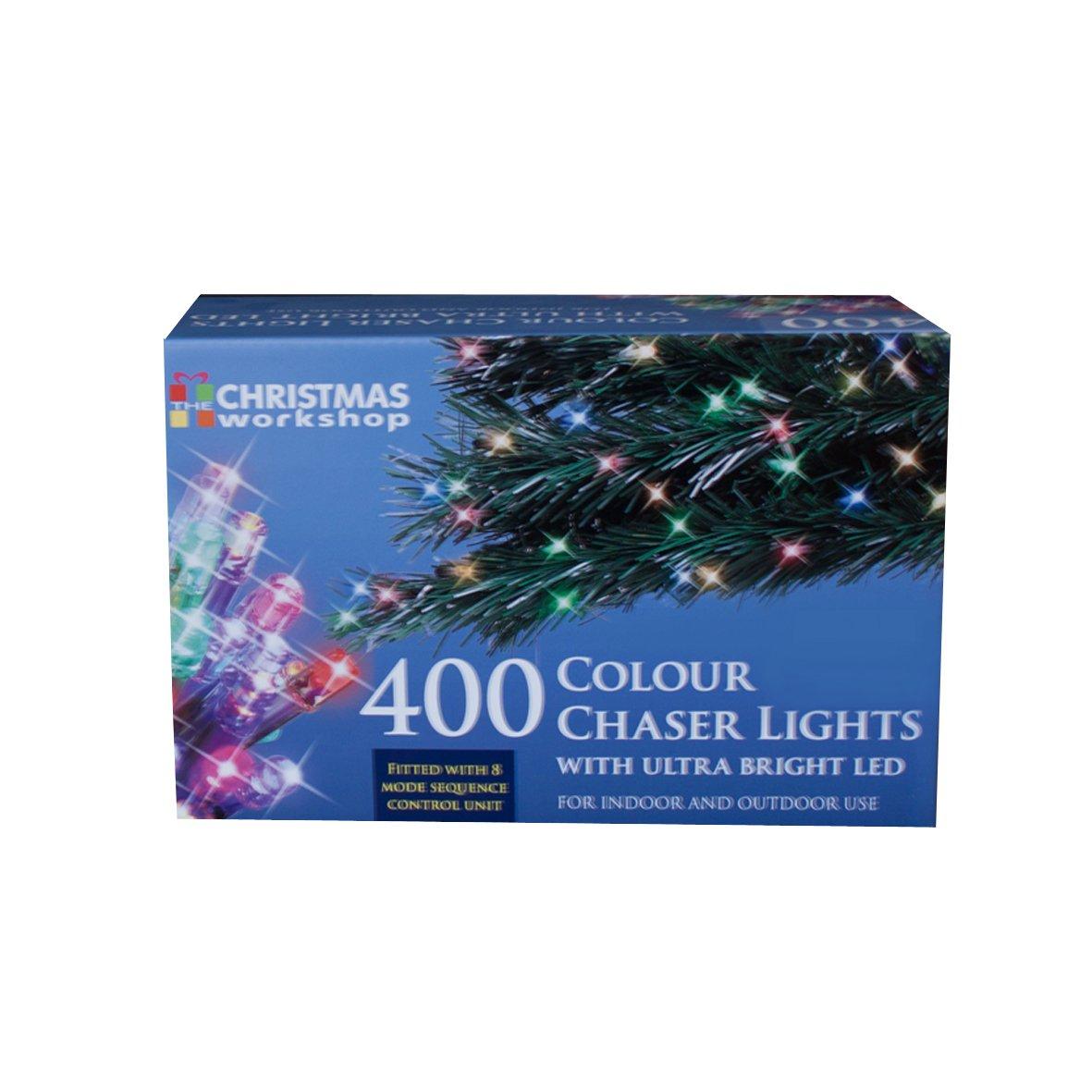 76120 Christmas Workshop Benross 400 LED Chaser String Lights Bright White, Multi Function Flashing Fairy Light, 8 Modes, Indoor & Outdoor - Garden Party Wedding Benross Group