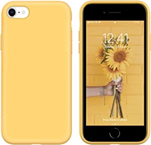 """IceSword iPhone SE 2020 Silicone Case Yellow [Upgraded 2nd Generation], iPhone 7/8 (4.7""""), Liquid Silicone Gel Rubber, Full Body Shockproof, Drop Protection (4.7"""") iPhone 7/8/iPhone SE 2020 - Yellow"""