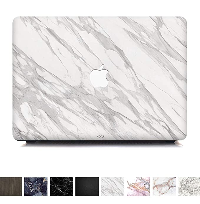 Koru Premium Minimalist White Marble Vinyl Decal Skin Sticker Case Cover for MacBook Pro 15 inch Retina Without CD Drive (Model A1398) best laptop stickers for professionals
