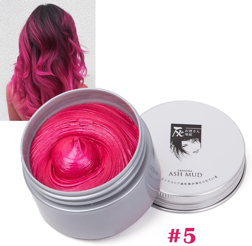 7 colores temporales de tinte de pelo crema grano cera color ...