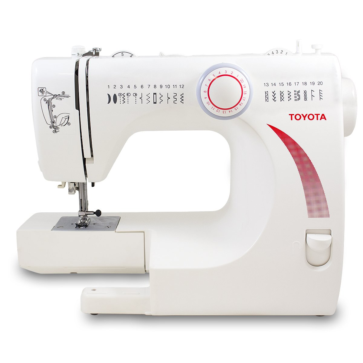Amazon.com: TOYOTA Heavy-Duty Metal Interior STF39 (STF 39) Sewing Machine  with 20 Built-In Stitches