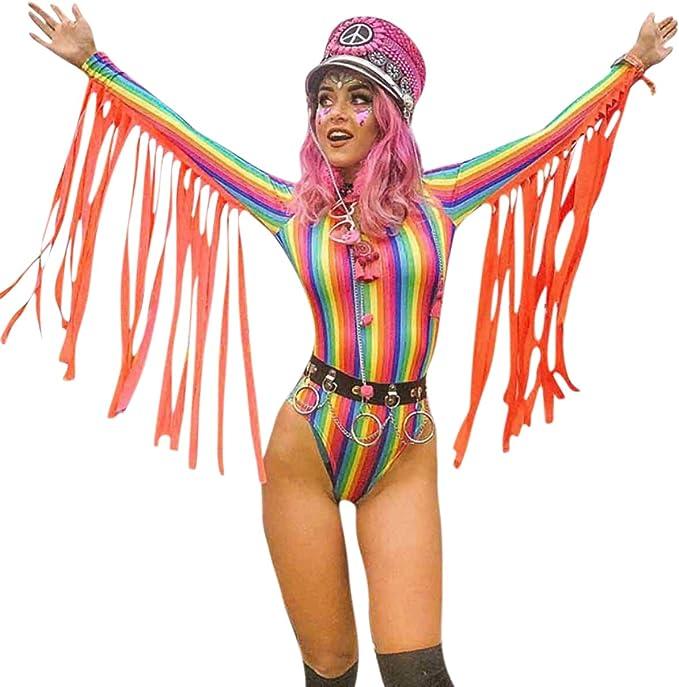 Indigo Tie-Dye Braided Festival Rave Bodysuit Women/'s Large