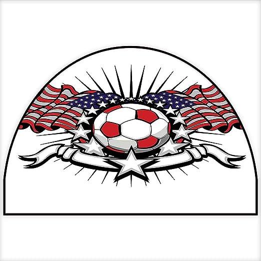Alfombra para niños, diseño de balón de fútbol, diseño geométrico ...