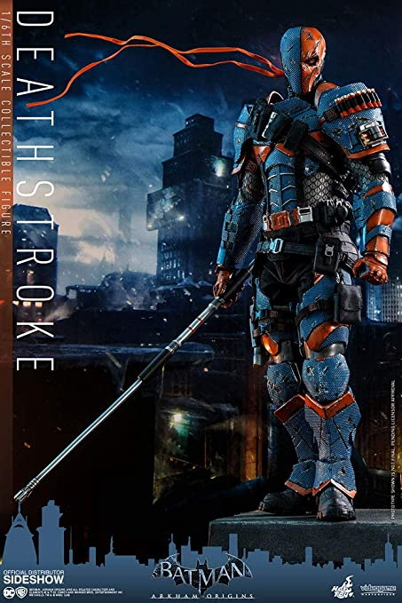 1//6 Hot Toys Action Figure DC Batman Arkham Oringis Deathstroke VGM30 In Stock