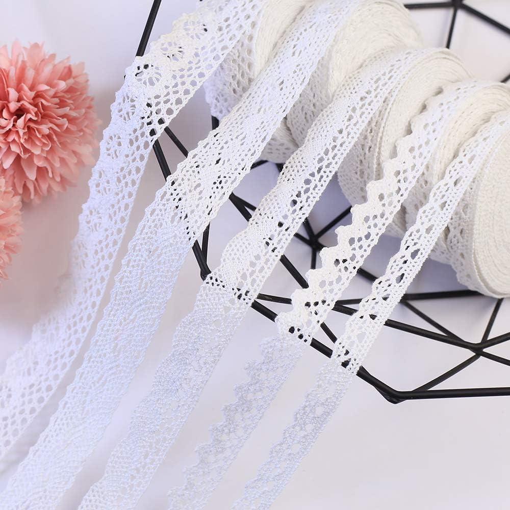 DAHI - Cinta de encaje blanca de algodón con encaje de encaje de ...