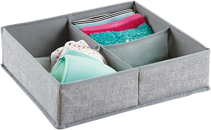 mDesign – Caja organizadora de tela (4 compartimentos) – Precioso ...