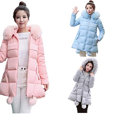 DICPOLIA Women Thicken Warm Winter Jackets Coat Hood Parka Overcoat Long Jacket Outwear