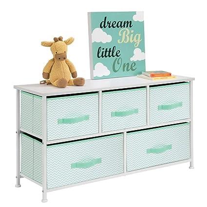 Organizer pratico con 3 cassetti l/'appartamento o per stanze piccole mDesign Comodino in stoffa Cassettiera ideale per la camera da letto antracite