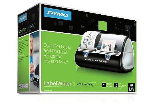 DYMO LabelWriter 450 Twin Turbo - Impresora de etiquetas (Térmica directa, 600 x 300 DPI, 71 Ipm, 56 mm, Negro, Plata): Amazon.es: Oficina y papelería