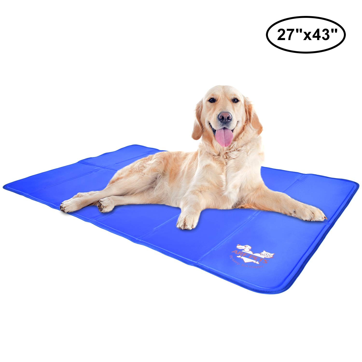 Arf Pets Pet Dog Self Cooling Mat Pad for Kennels, Crates and Beds 27x43 by Arf Pets