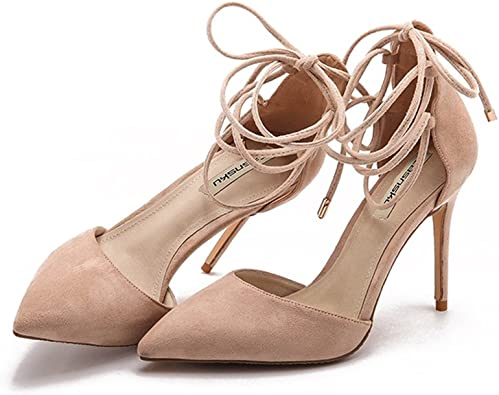 Color : Black, Size : 34 High heels Nude Stiletto Pointed Shoes Banquet Fashion Shoes