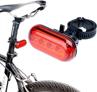 ezyoutdoor bicicleta 5 LED rojo para bicicleta luz trasera cola ...