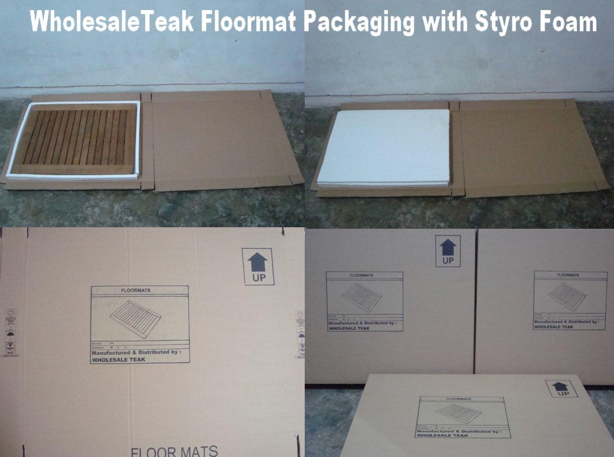 Wholesaleteak Genuine Grade A Teak Wood 24'' Door Floor Spa Bath Mat - Manufactured and shipped by Wholesaleteak