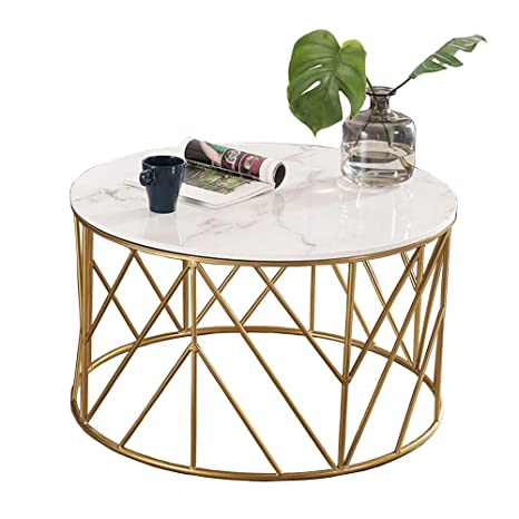 new product c4dc0 91eb4 Amazon.com: ZHIRONG Nordic Marble Sofa Side Table Living ...