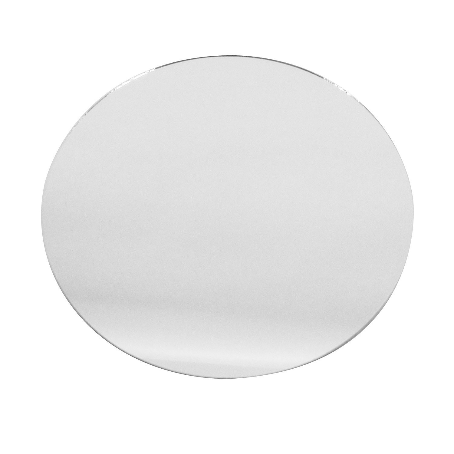 Round Glass Mirror Wedding Banquet Table Centerpieces, Smooth edges (Sets of 12) (12'')