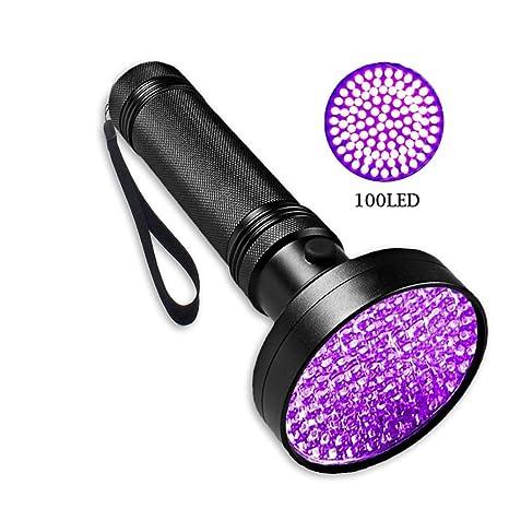 Homeofying - Linterna Ultravioleta con luz UV de Color Negro, 100 LED Ultravioleta para Perro