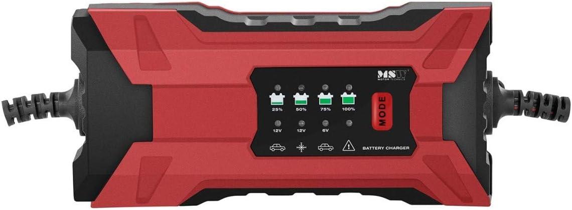 15 W, 6 V//1 A, 12 V//1 A, Batterieleistung: 4-120 Ah, f/ür Blei- AGM- und Gel-Batterien, Rettungsmodus MSW Autobatterieladeger/ät Batterieladeger/ät Kfz Auto und Motorrad S-CHARGER-5S1A