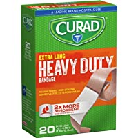 CURAD Heavy Duty Bandage Extra Long 20 Each .75 x 4.75 in (Pack of 4)