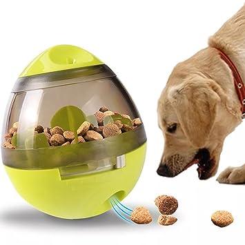 Dispensador de bolas interactivo para perros de Abree Dog Dispensador de comida para mascotas IQ bola resistente juguete para masticar para perros medianos ...