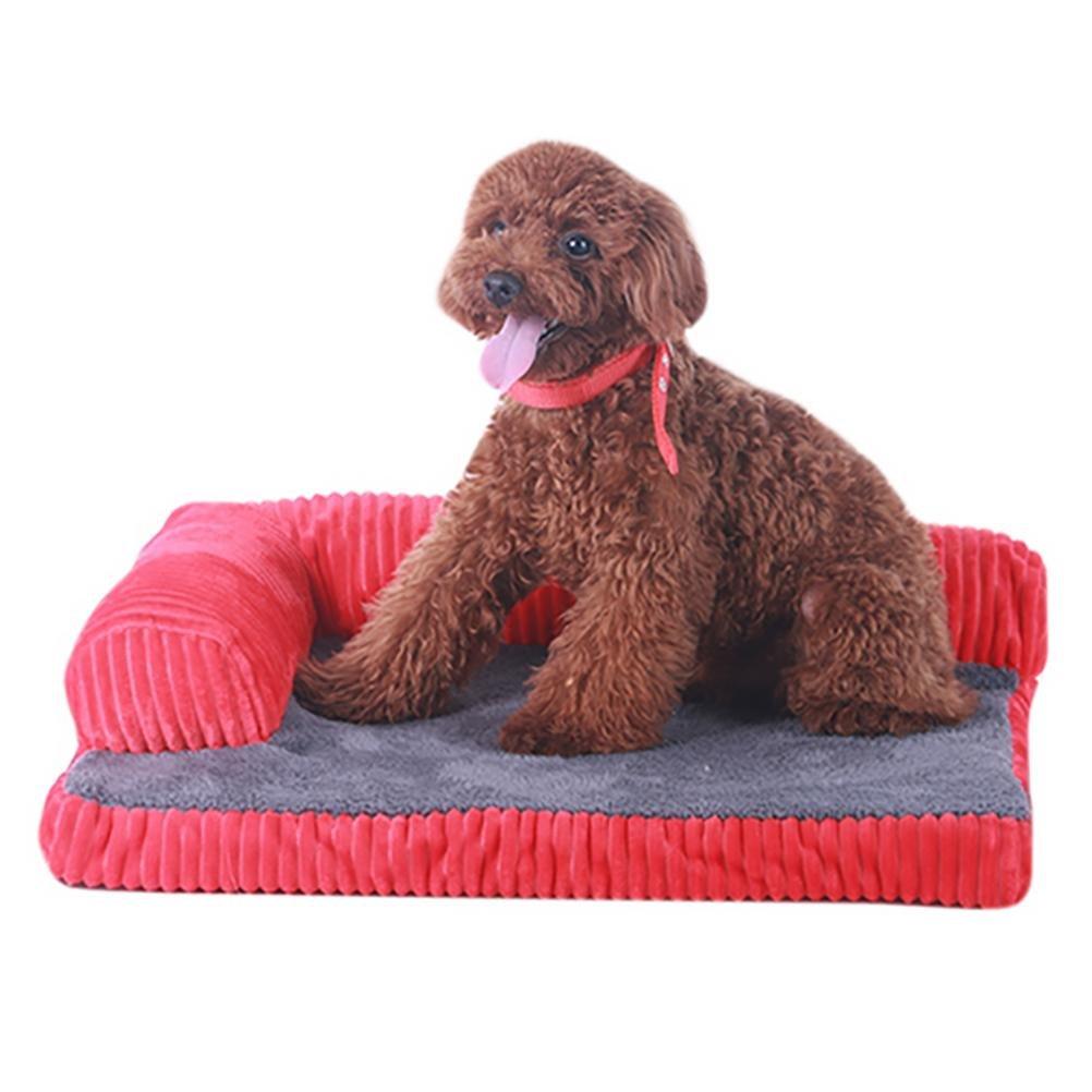 Red 5045cm red 5045cm DAN Dog Bed,Deluxe Orthopedic Memory Foam Sofa Lounge