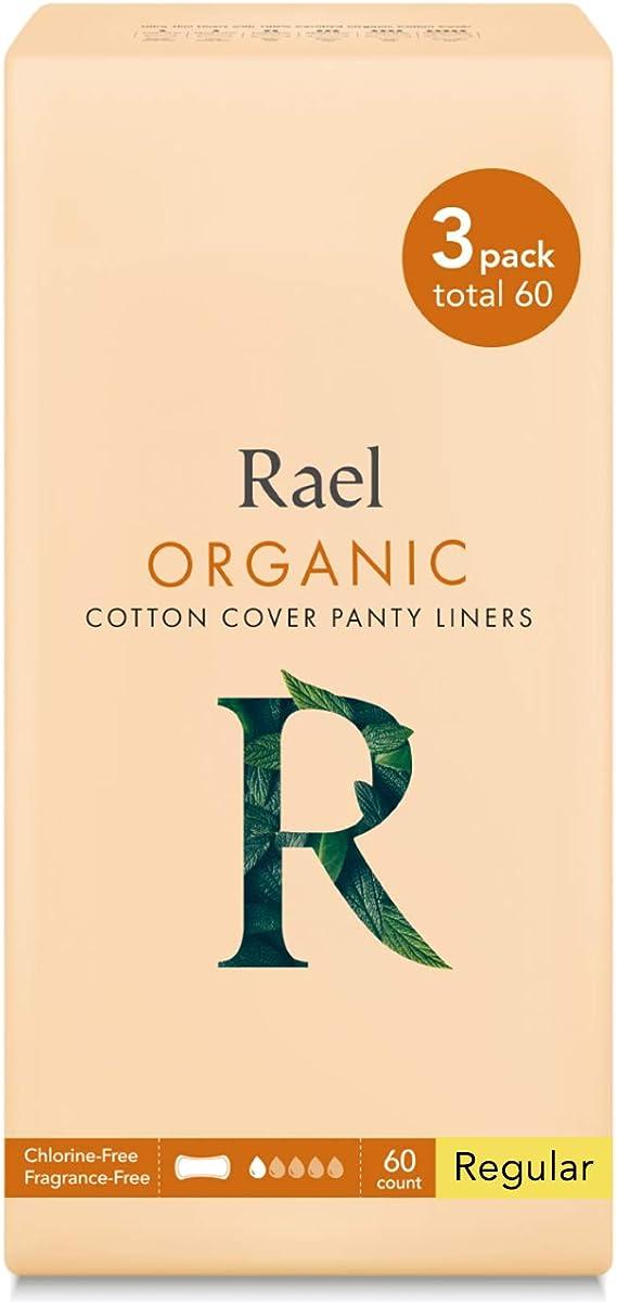 Rael 100% Organic algodón Regular Panty Liners – Unscented ...